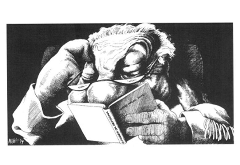 Mário Soares em caricaturas