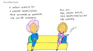 Novo <i>cartoon</i> d'A Criada Malcriada: Para o Mário Soares