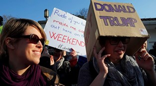 A marcha das mulheres contra Trump em Lisboa