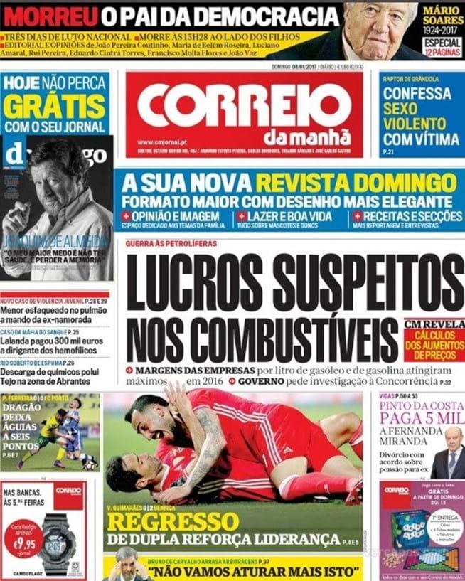 Jornais nacionais reagem à morte de Mário Soares