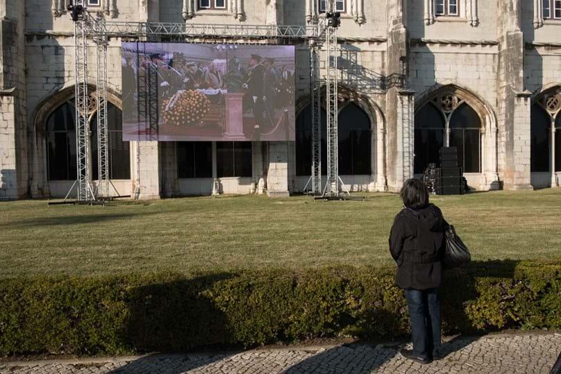 As homenagens a Soares no Mosteiro dos Jerónimos