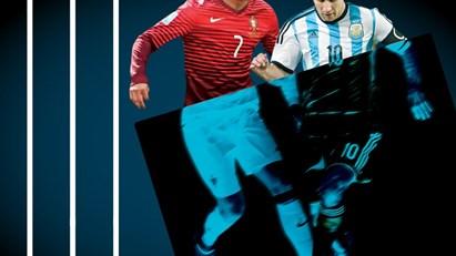Ronaldo e Messi ao Raio X