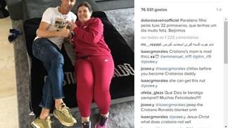 Família celebra aniversário de Cristiano Ronaldo nas redes sociais