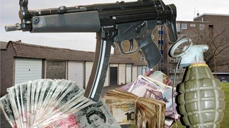 Armas e dinheiro de gansters escoceses ligados a cartel sediado em Portugal