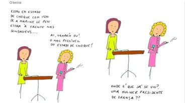 Novo cartoon d'A Criada Malcriada: O Terror