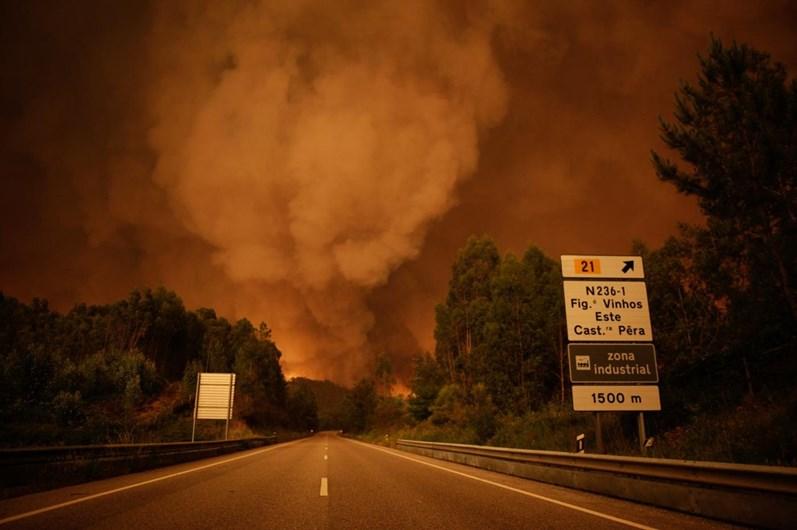 As imagens do incêndio em Pedrógão Grande