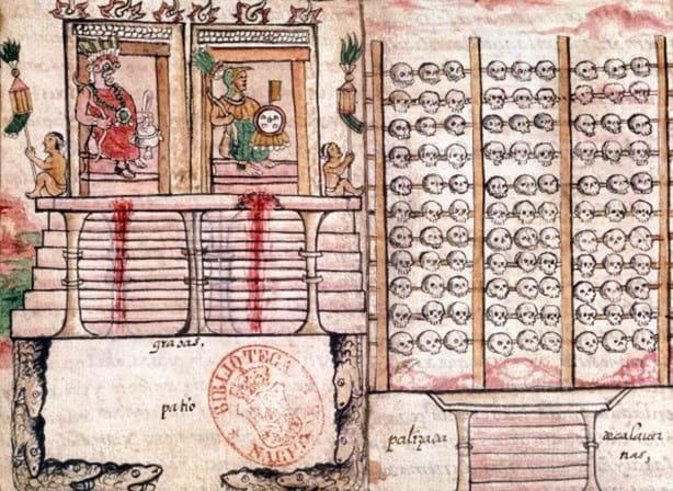 Torre de crânios revela segredos dos rituais de sacrifício entre os astecas