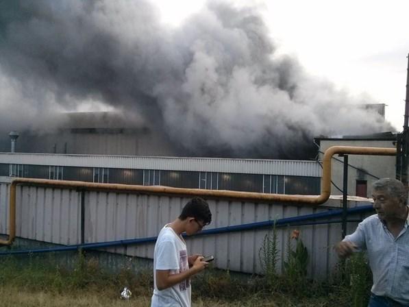 Incêndio de grandes dimensões em fábrica de Moreira de Cónegos