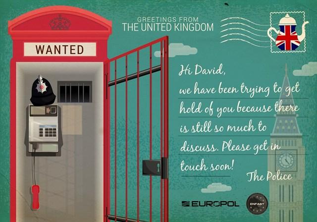 Europol envia postais aos fugitivos mais procurados da Europa