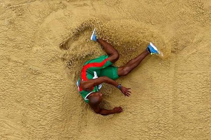 Nelson Évora na final dos Mundiais de atletismo