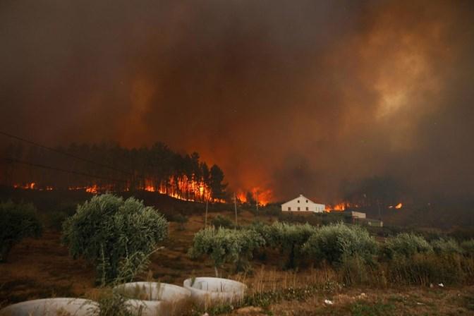 Quase mil operacionais combatem três grandes fogos esta madrugada