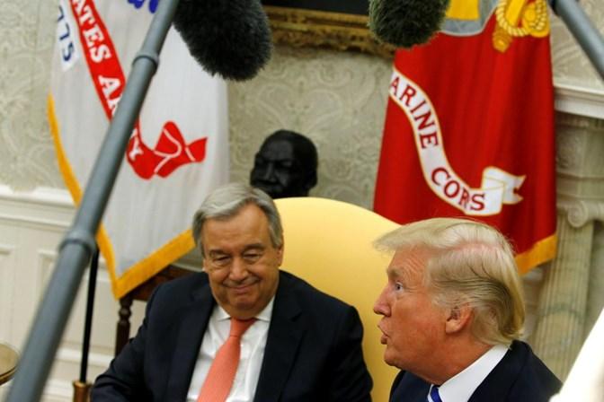 Trump elogia Guterres e o