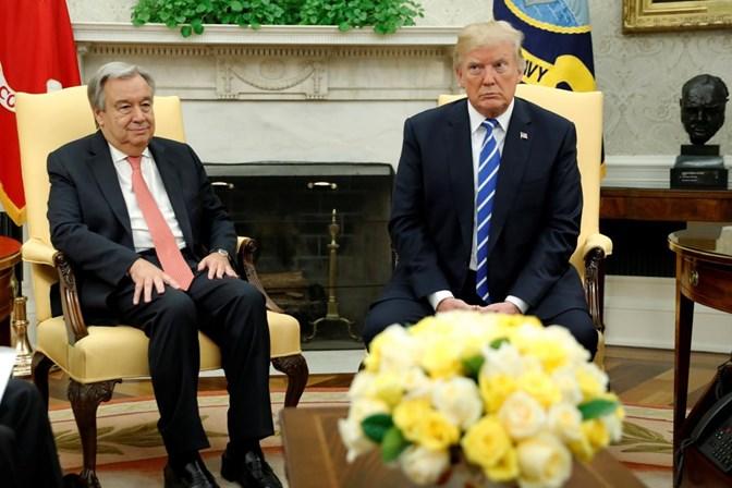 Trump elogia trabalho de Guterres na ONU
