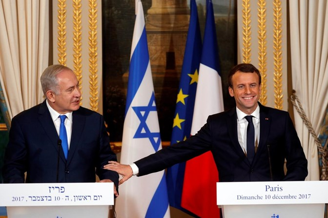 Macron convida Netanyahu a quebrar