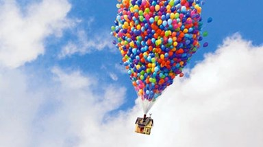 Up: Casa voadora do cinema para a vida real (vídeo)