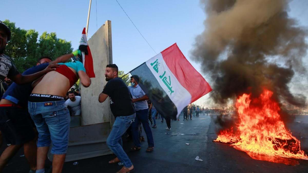Resultado de imagem para Protestos no Iraque deixam mais de 100 mortos