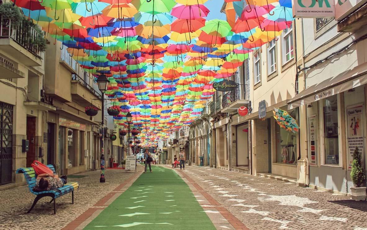 Rua Luís de Camões, em Águeda